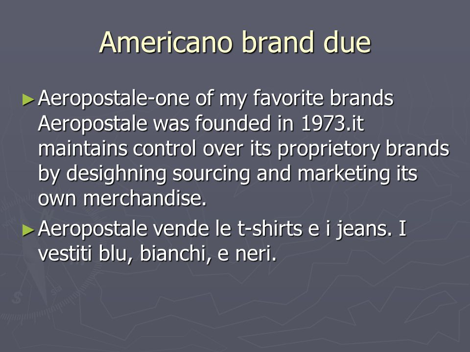 Americano brand due