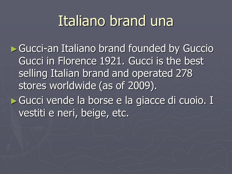 Italiano brand una