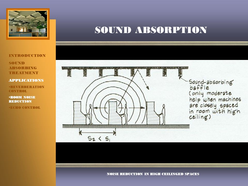 Mechanics of sound absorption ppt video online download for Reduce sound in a room