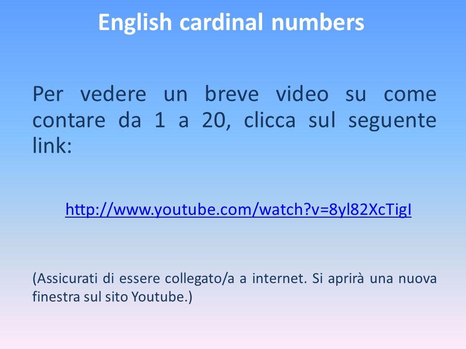 English cardinal numbers