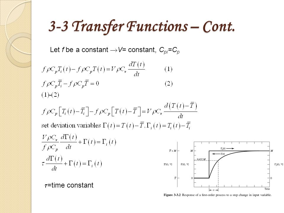chapter 3   simple process dynamics and transfer function
