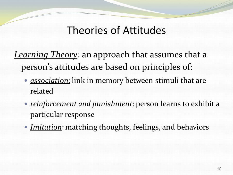 attitude theory Journal of research in science teaching vol 39, no 9, pp 819–844 (2002) comparing three attitude-behavior theories for predicting science teachers' intentions.