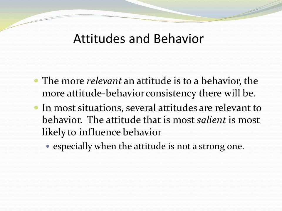 how to change behaviour and attitude