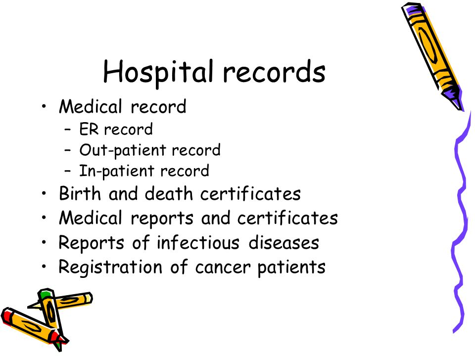 hospital and medical records Your records are maintained by our hospital's medical records department with  utmost care we will be happy to copy your record for any physician.