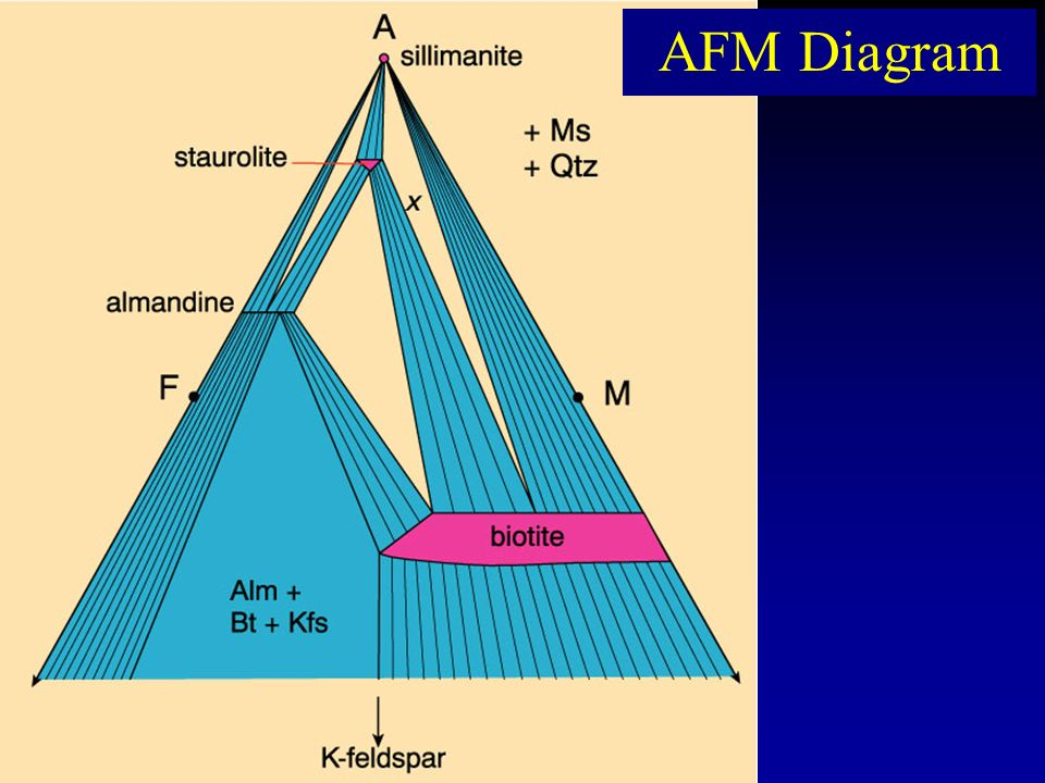 Afm Diagram Due To Extensive Mg Fe Solid Solution In Biotite And