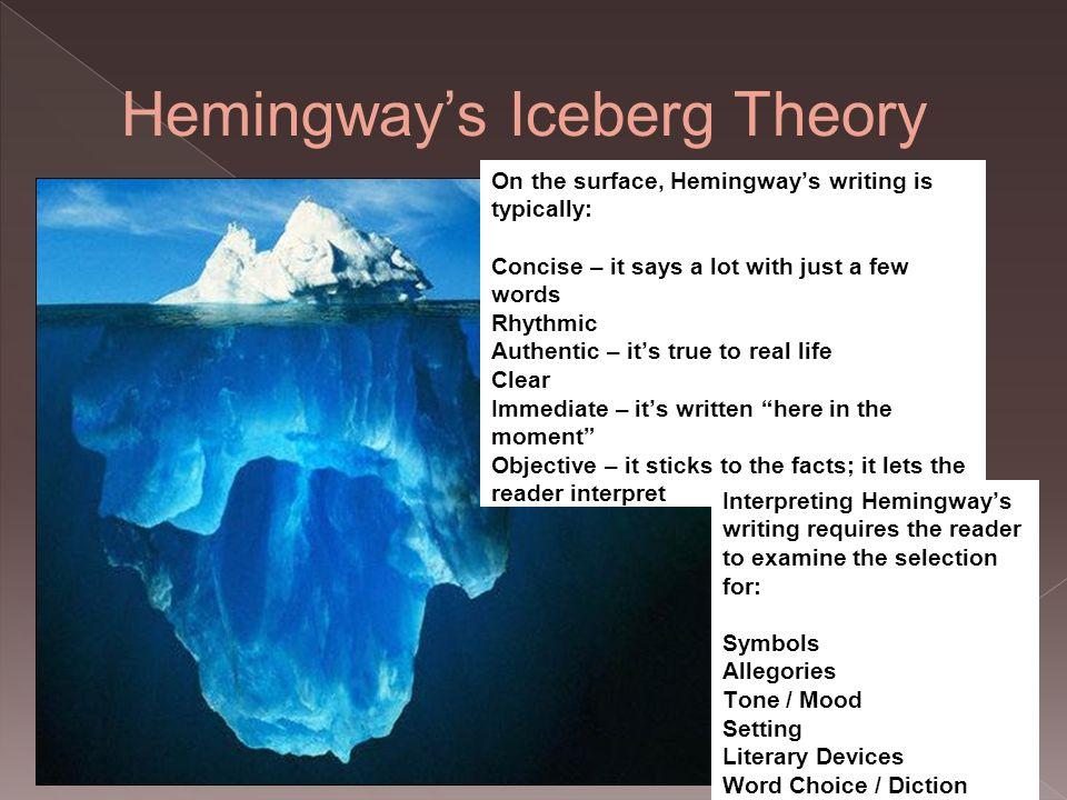 Hemingway Iceberg Best Iceberg Theory Ideas The Iceberg