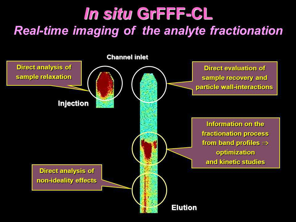 In situ GrFFF-CL Real-time imaging of the analyte fractionation