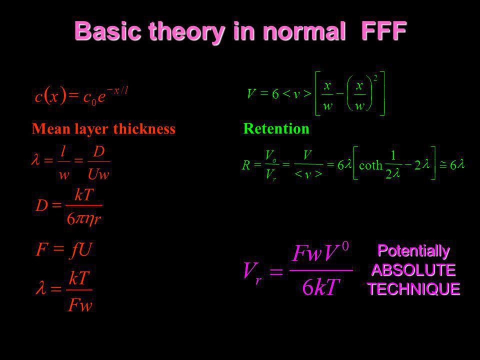 Basic theory in normal FFF