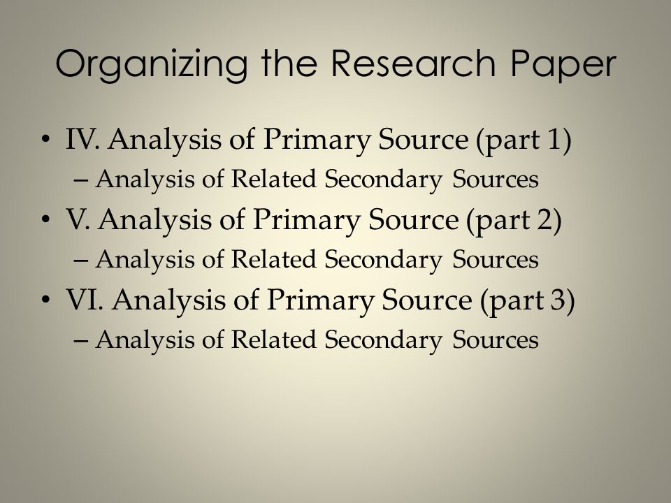 organizing paper research If you are very visual, you can use images in the form of text boxes to organize and outline an essay or big research paper the first step in this method of organizing your work is to pour your thoughts onto paper in several text boxes.