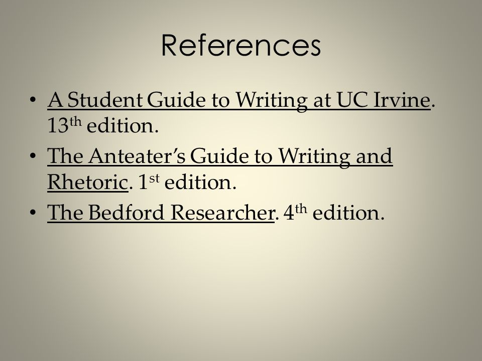 Anteaters guide to writing and rhetoric 3rd