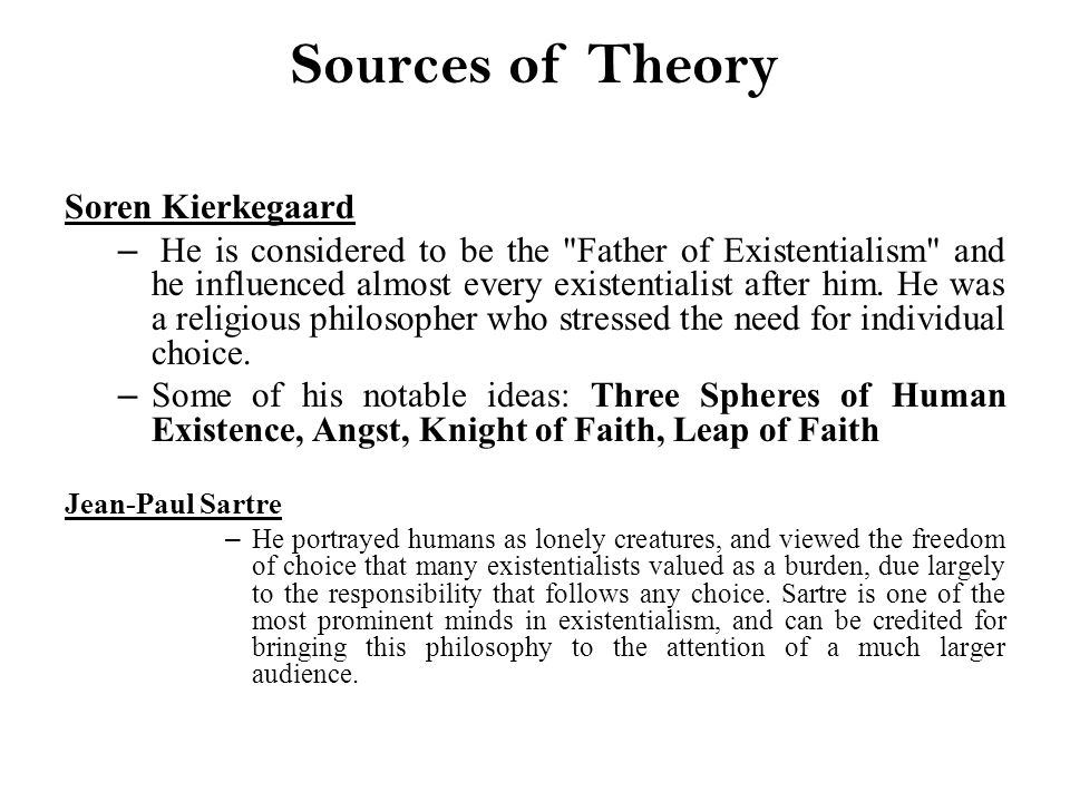 kierkegaard theory Kierkegaard: construction of the aesthetic (theory and history of literature) [theodor w adorno, robert hullot-kentor] on amazoncom free shipping on qualifying offers.