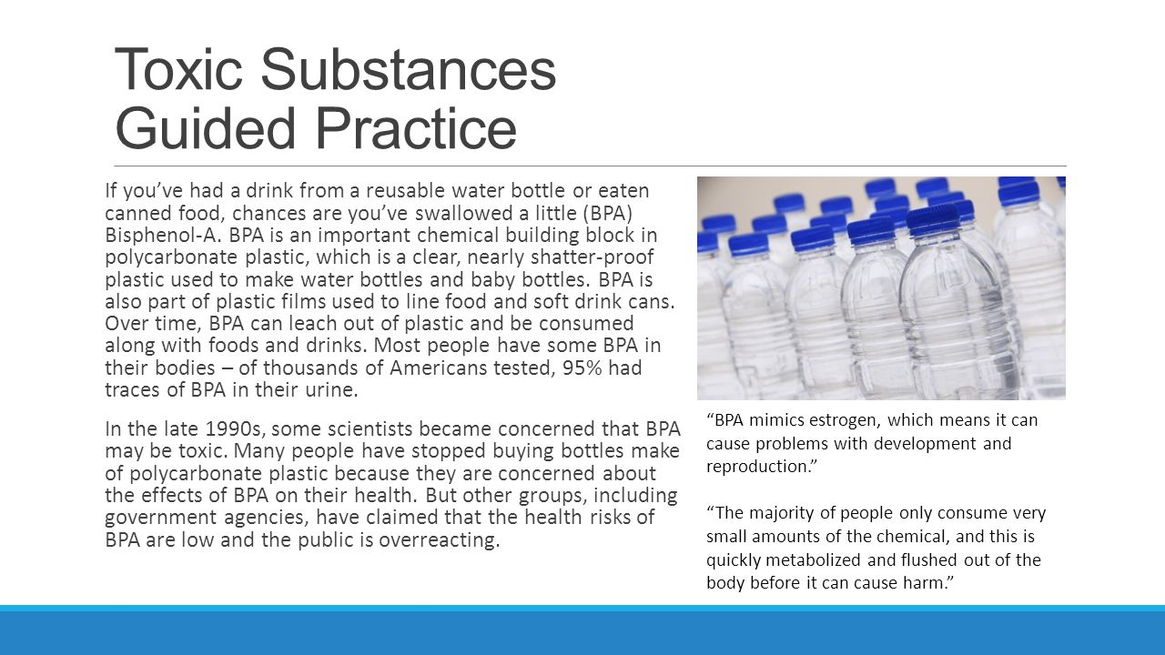 Toxic Substances Introduction