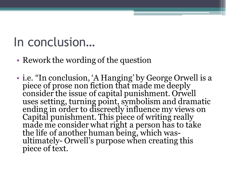 What is the central theme/concern of A Hanging by George Orwell?