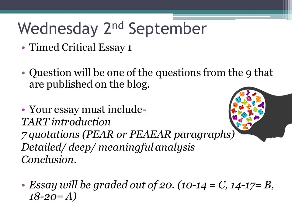 critical essay writing ppt  17 wednesday 2nd