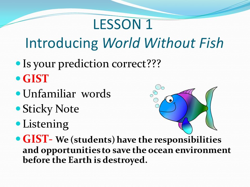 World without fish ppt video online download for World without fish