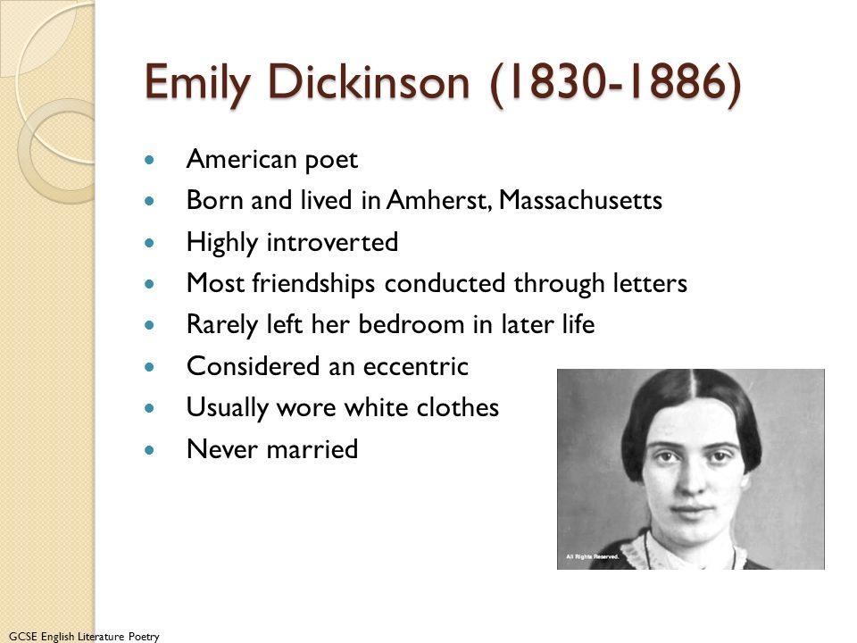 Emily Dickinson (1830-1886) American poet