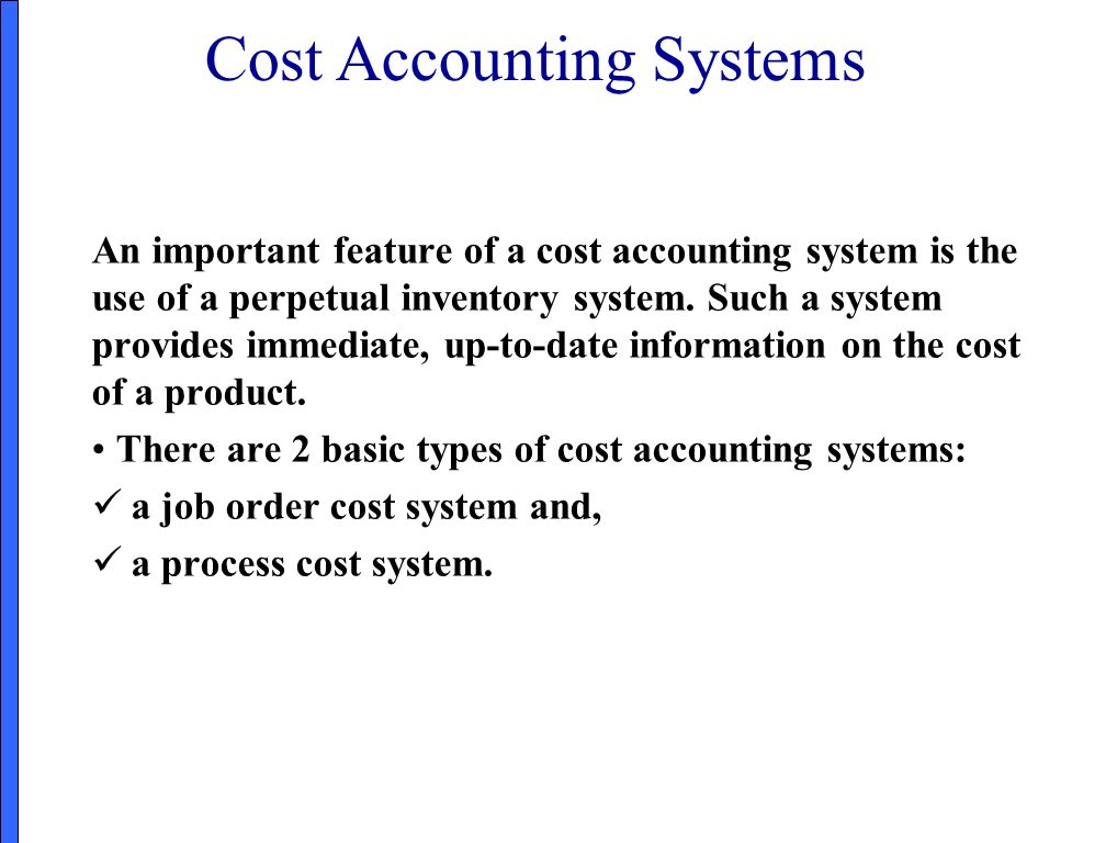 cost information system Cost management systems are needed to enable cost accountants to provide  managers with the cost and benefit information that they need a cost  management.