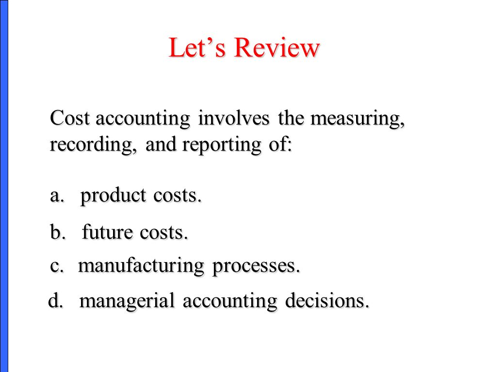 cost accounting reviewer Cost accounting reviewer (finals) - download as word doc (doc / docx), pdf  file (pdf), text file (txt) or read online costacc.