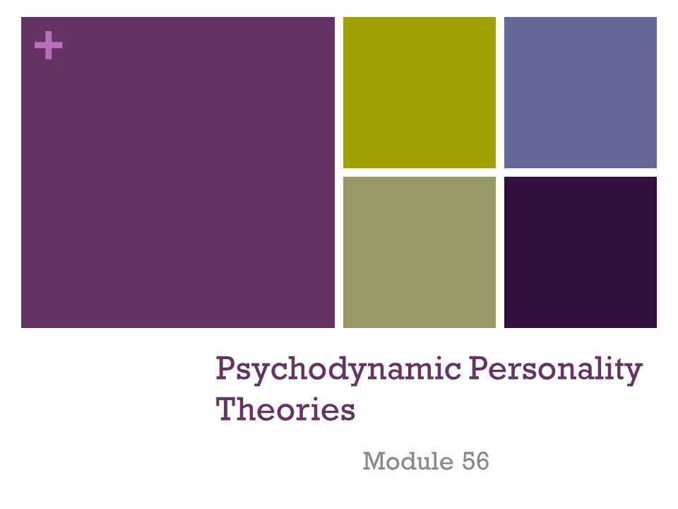 psychodynamic personality theories analysis