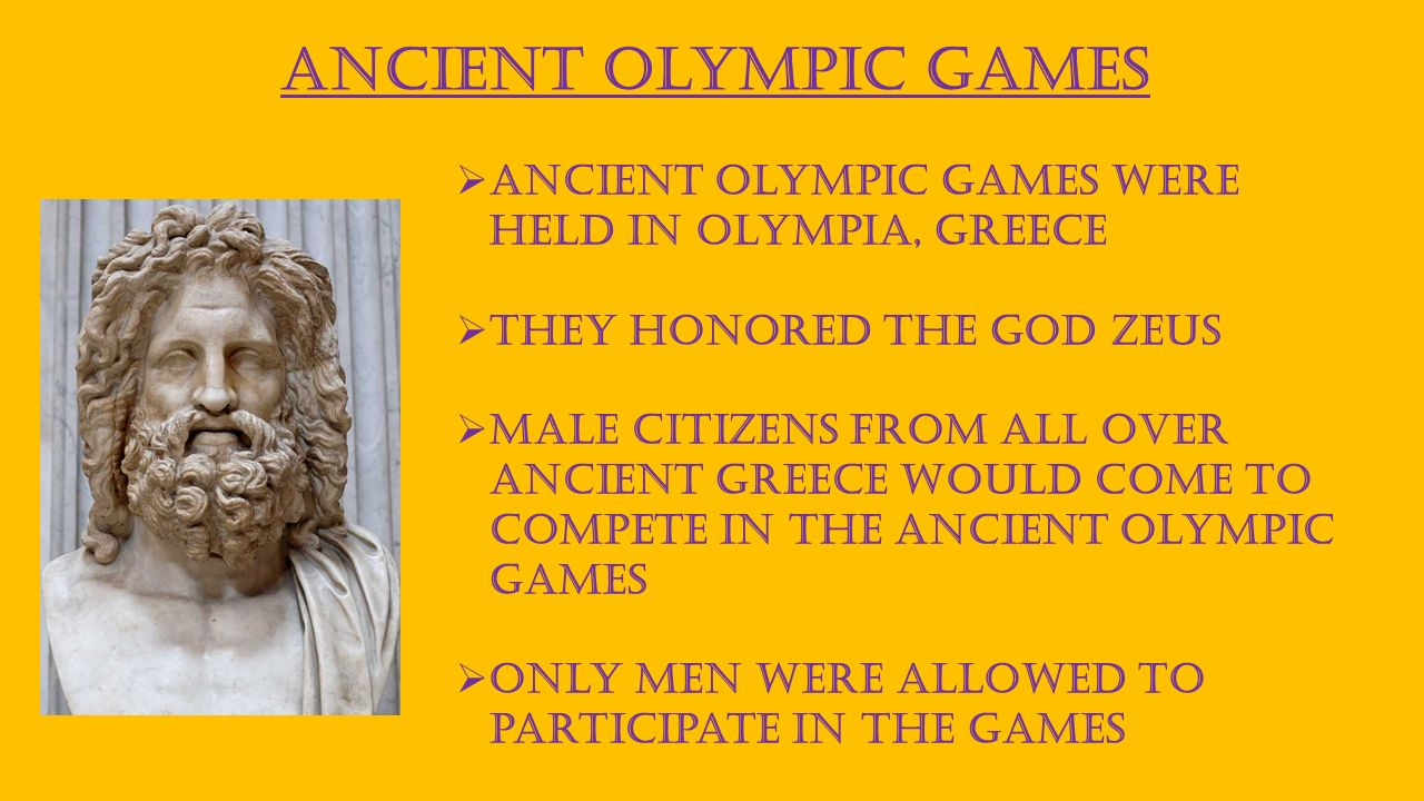 comparing the olympic games during the ancient times and today The first olympic games were held in greece in 776 bc they were called the ancient games and lasted until the 4th century ad the modern games began in 1896, when the frenchman pierre de coubertin revived the games to bring peace and friendship to the young people all over the world today, there are summer and winter games.