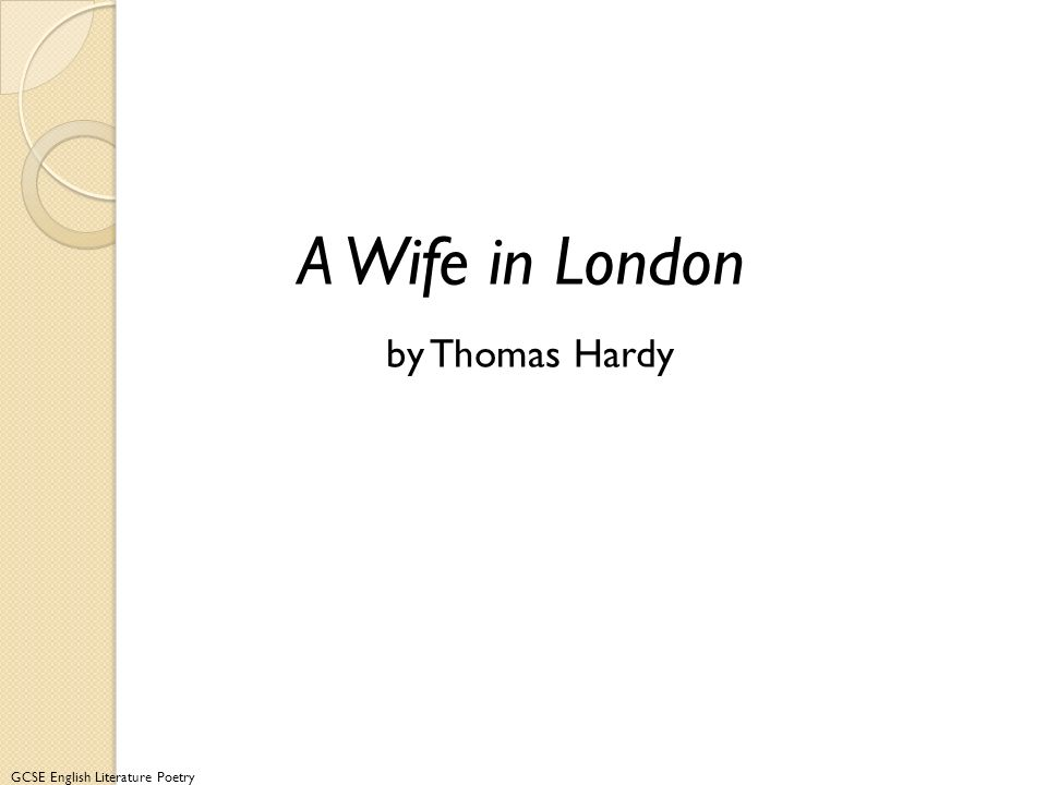 A Wife in London by Thomas Hardy