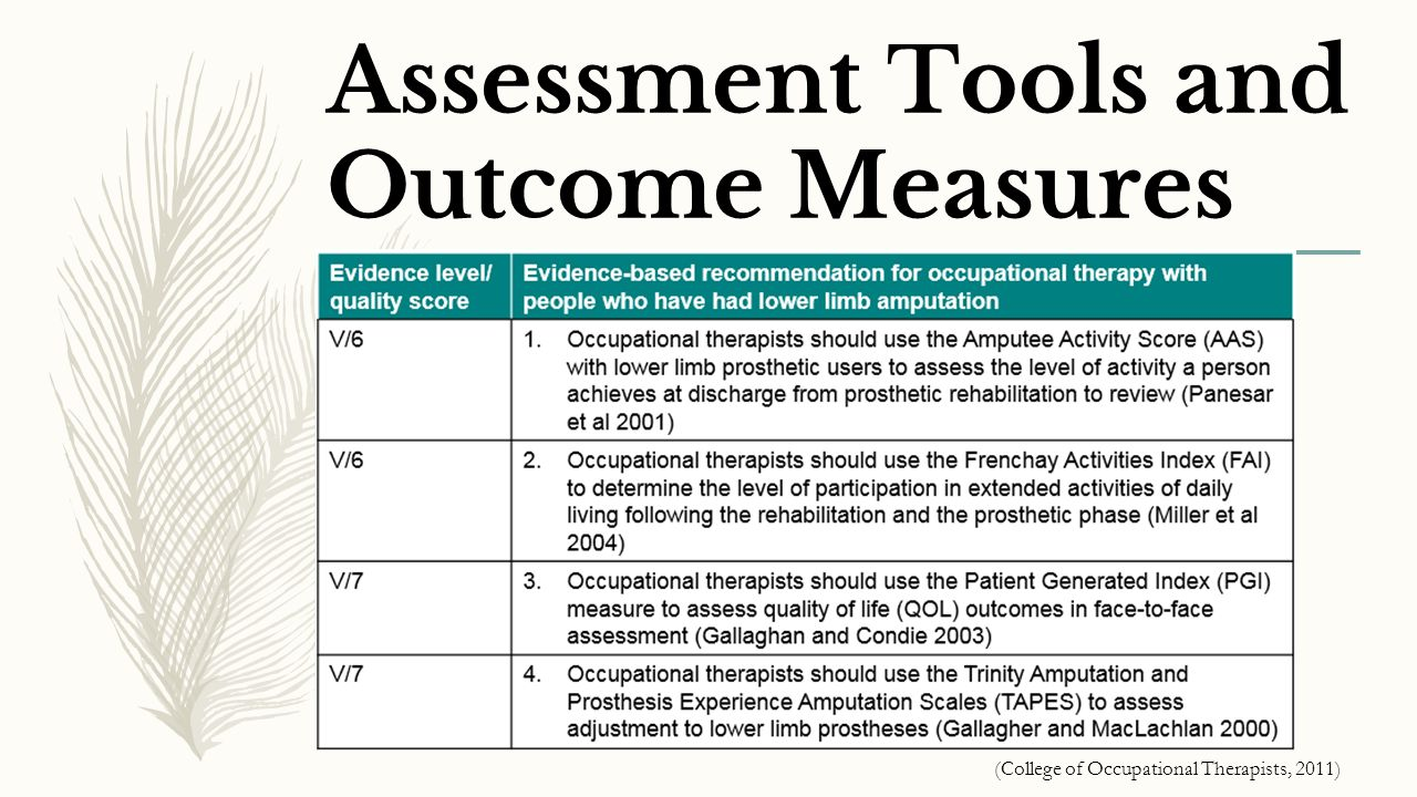 outcome measure Cql's personal outcome measures® are a powerful tool helping you deliver quality services that are defined by the people you support.