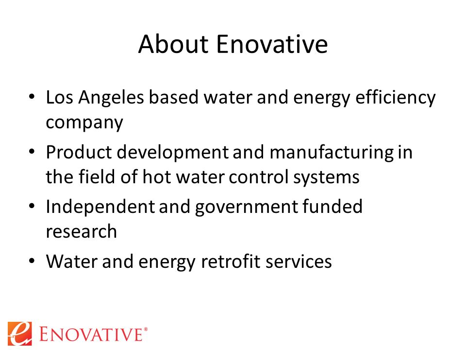 California energy commission funded research project ppt Energy efficient hot water systems