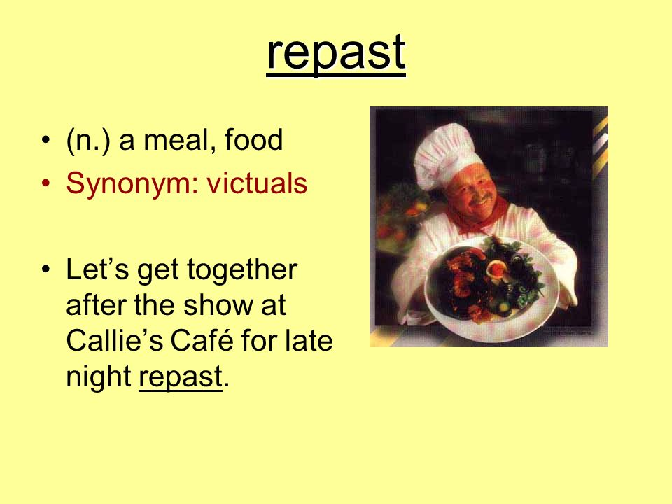 Vocabulary workshop unit 1 s ppt video online download for Cuisine synonym