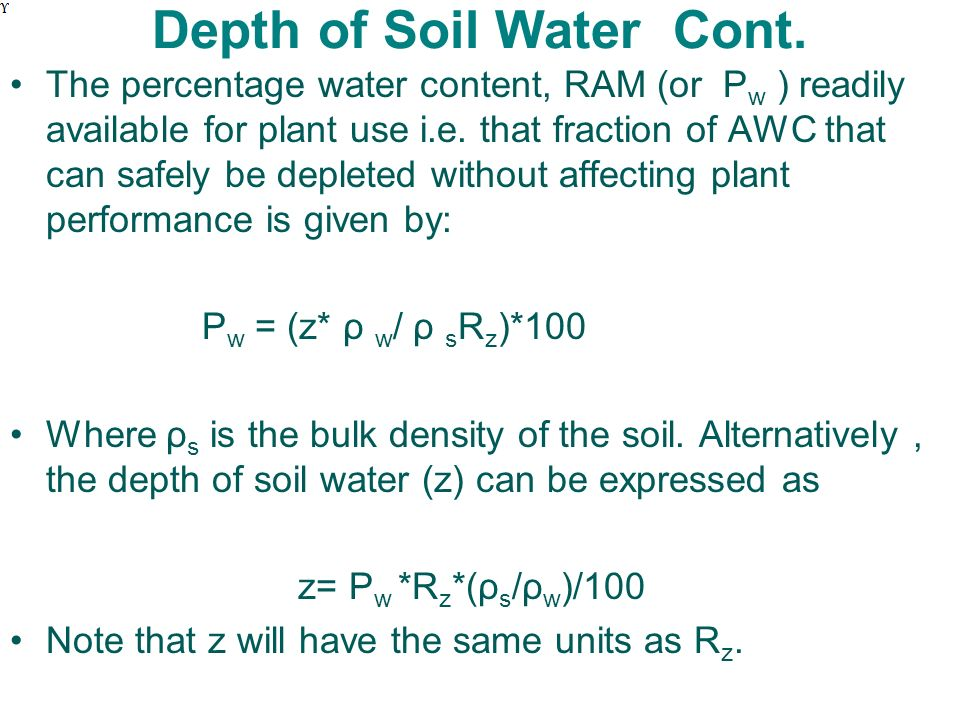 basic soil plant water relations ppt download
