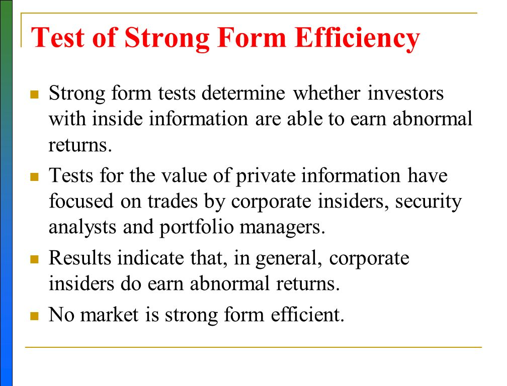 STOCK VALUATION METHODS AND EFFICIENT MARKET HYPOTHESIS - ppt ...