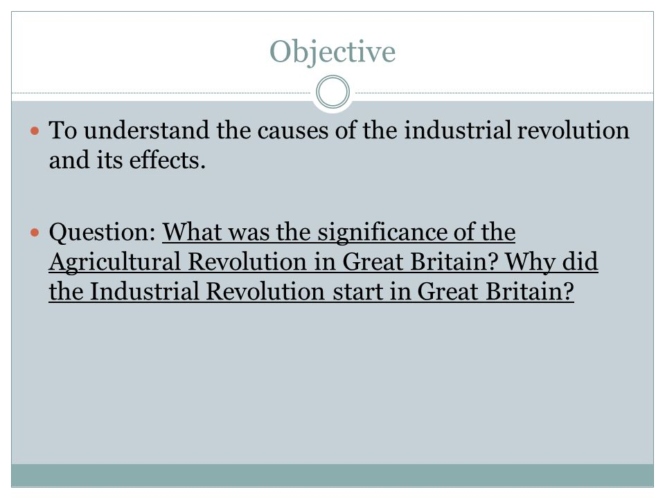 The significant impact of the industrial revolution on the north