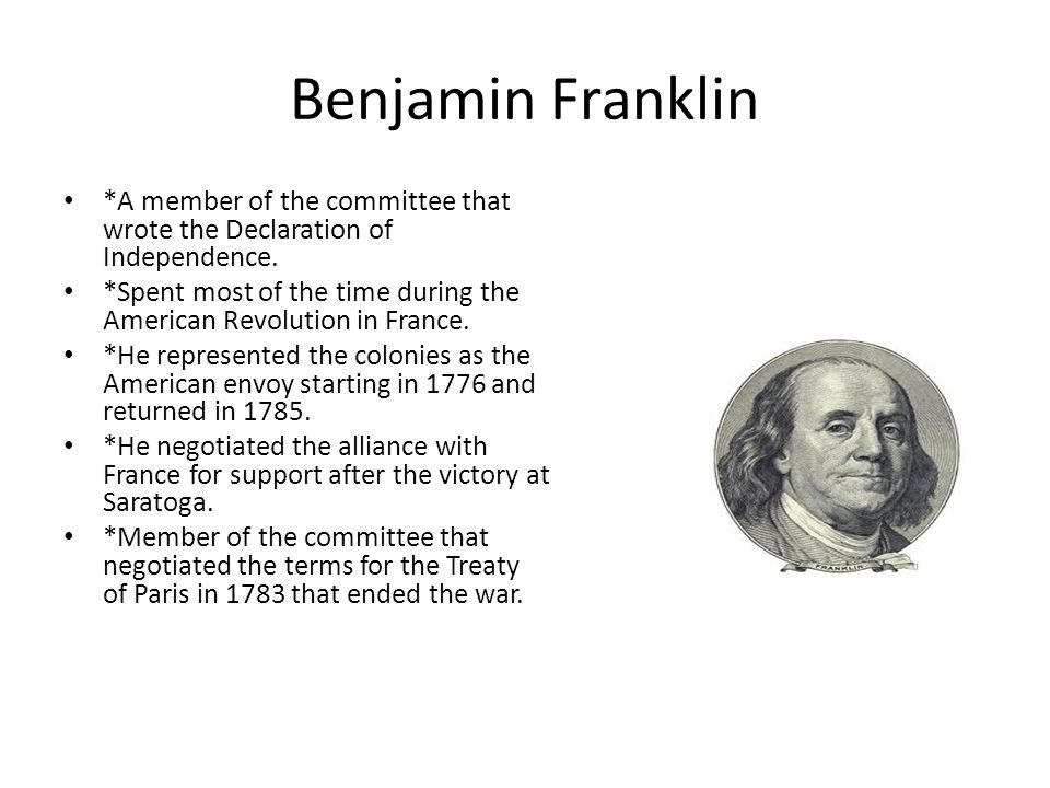writers of the american revolution benjamin franklin essay Start studying lesson 7 the american revolution learn vocabulary, terms, and more with flashcards, games, and other study tools.