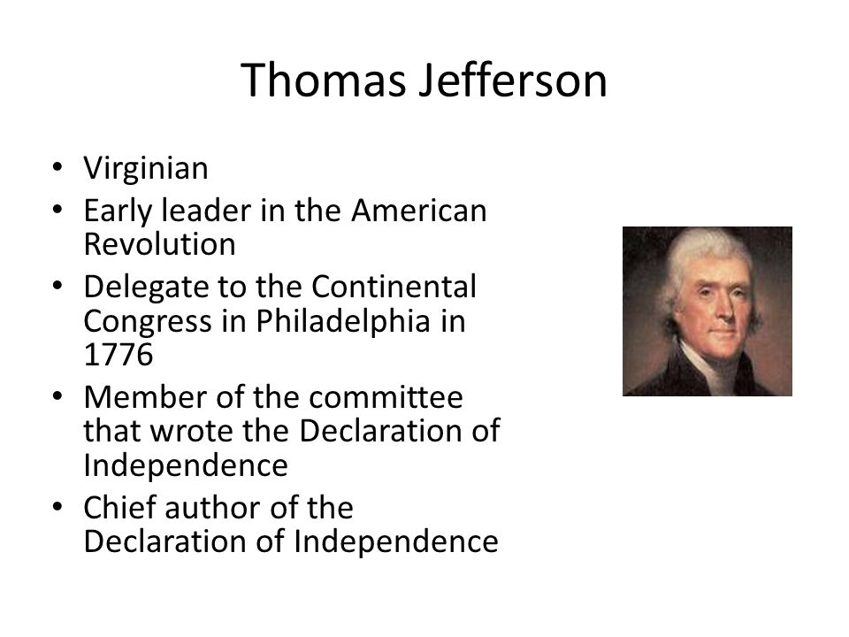 thomas jeffersons own personal feelings in the declaration of independence When using the study sheets in conjunction with the series thomas jefferson the declaration of independence belief on his own, or as thomas paine would.