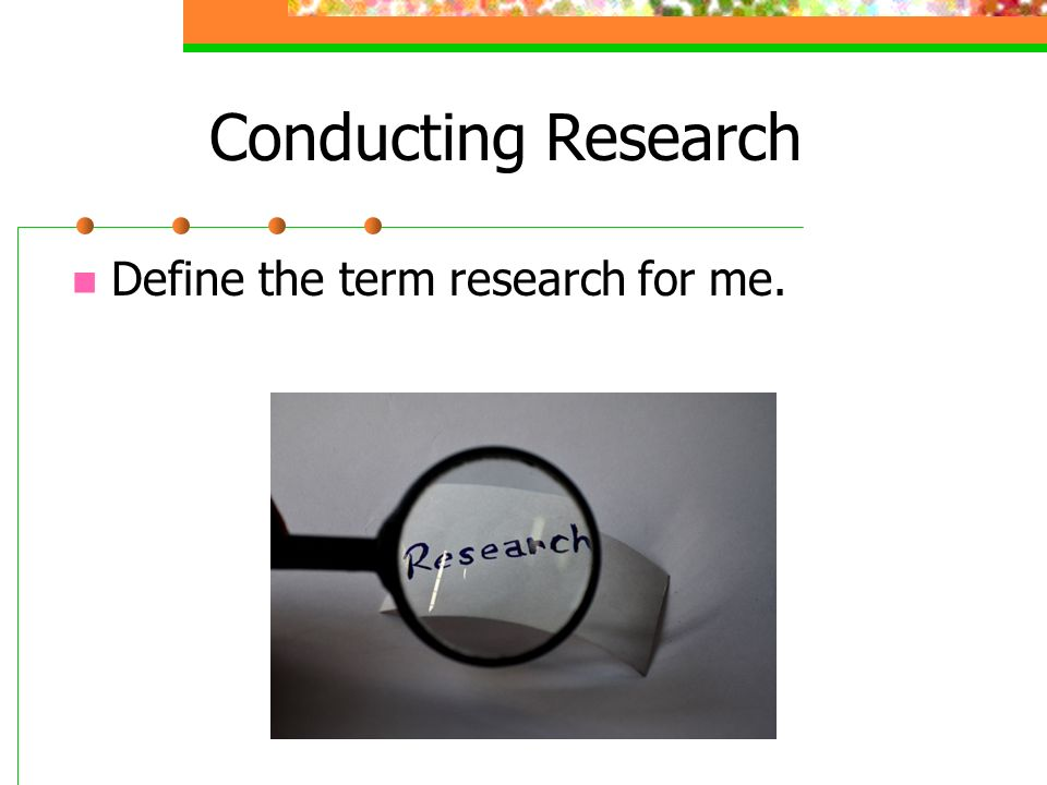 the conducted research Abstract survey research is sometimes regarded as an easy research approach however, as with any other research approach and method, it is easy to conduct a.