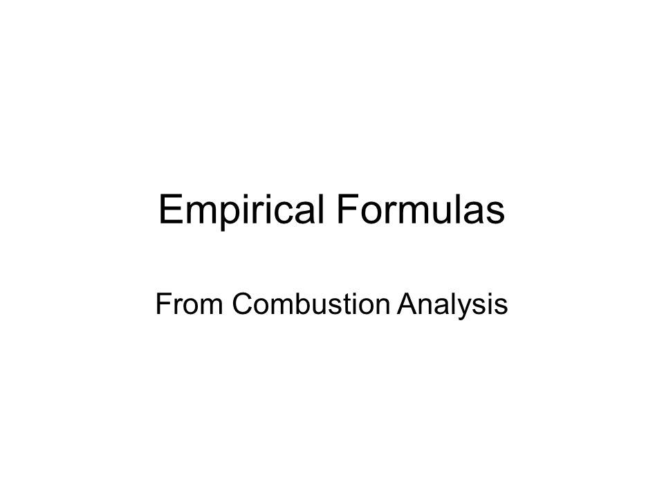 From Empirical Formulas ppt download – Combustion Analysis Worksheet