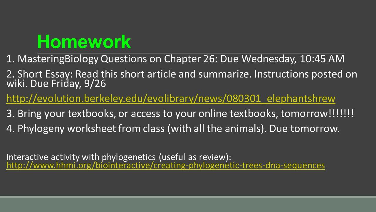 evolution essay questions