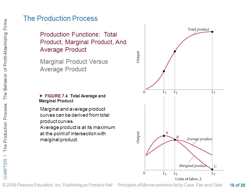 total product average product and marginal product curves