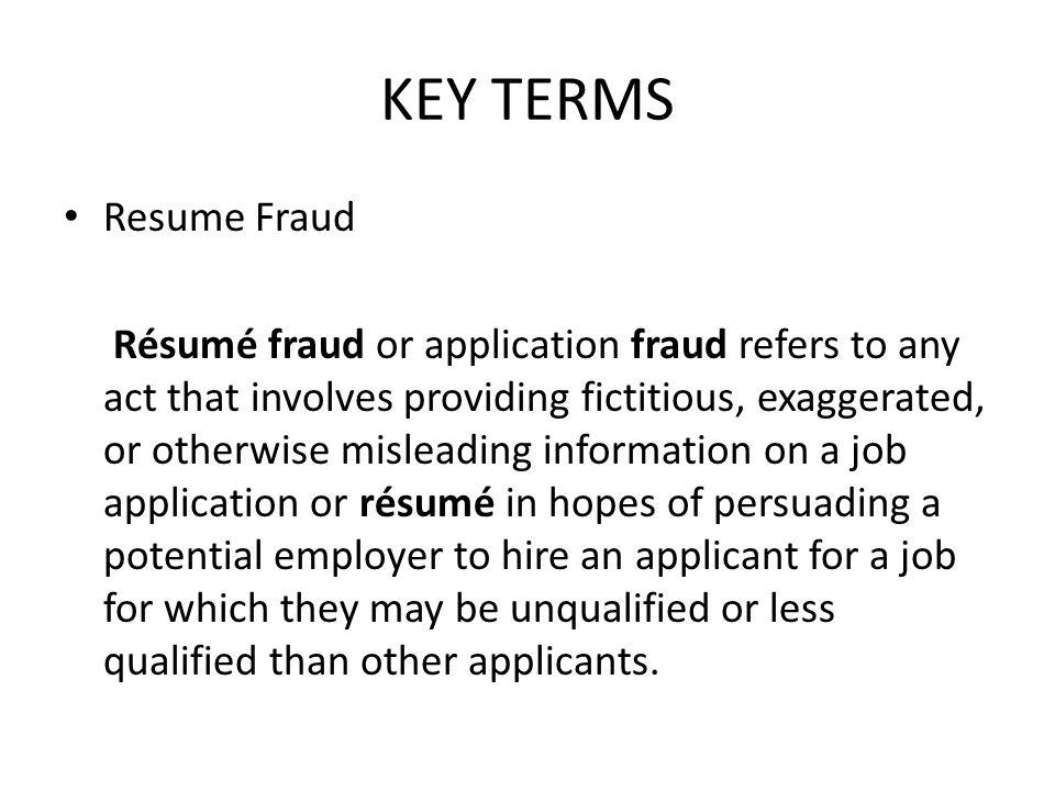 Key resume terms