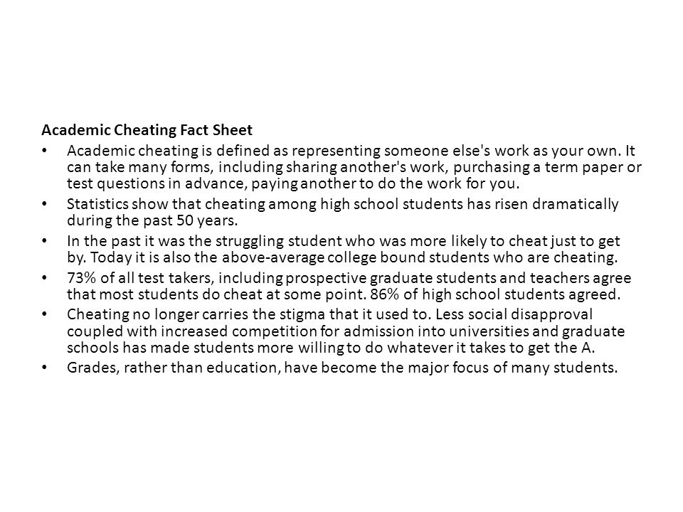 cheating among college students Cheating and moral judgment in the college classroom:  in the college classroom: a natural experiment  cheating behavior among college students,.