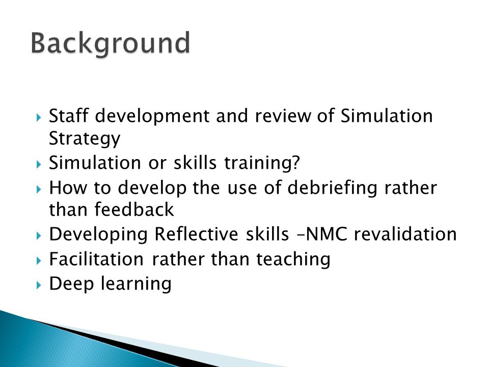 Reflection And Review Strategies DEBRIEFING AND REFLECT...