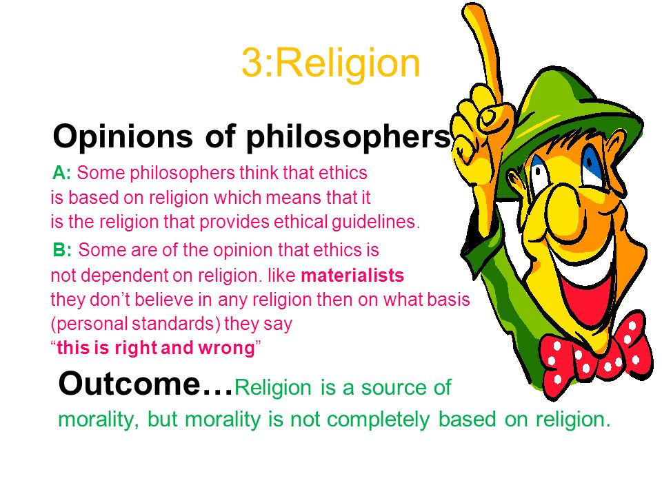 religion and morals opinion piece Laws related to religion and morality: church-state separation, human rights, school prayer, compulsory morality, human sexuality, etc  the result of this separation, in our opinion, has.