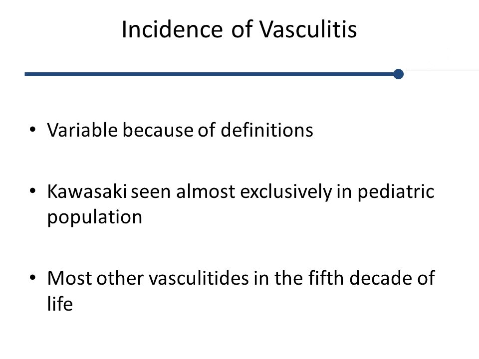 Incidence of Vasculitis
