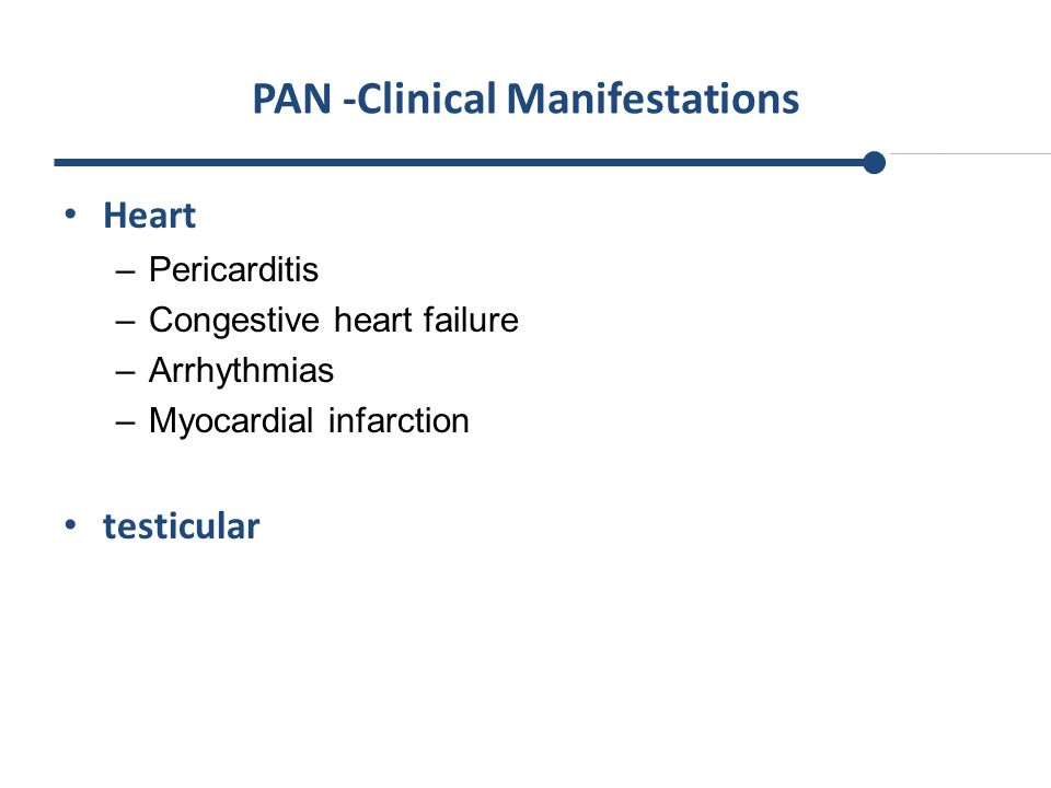 PAN -Clinical Manifestations