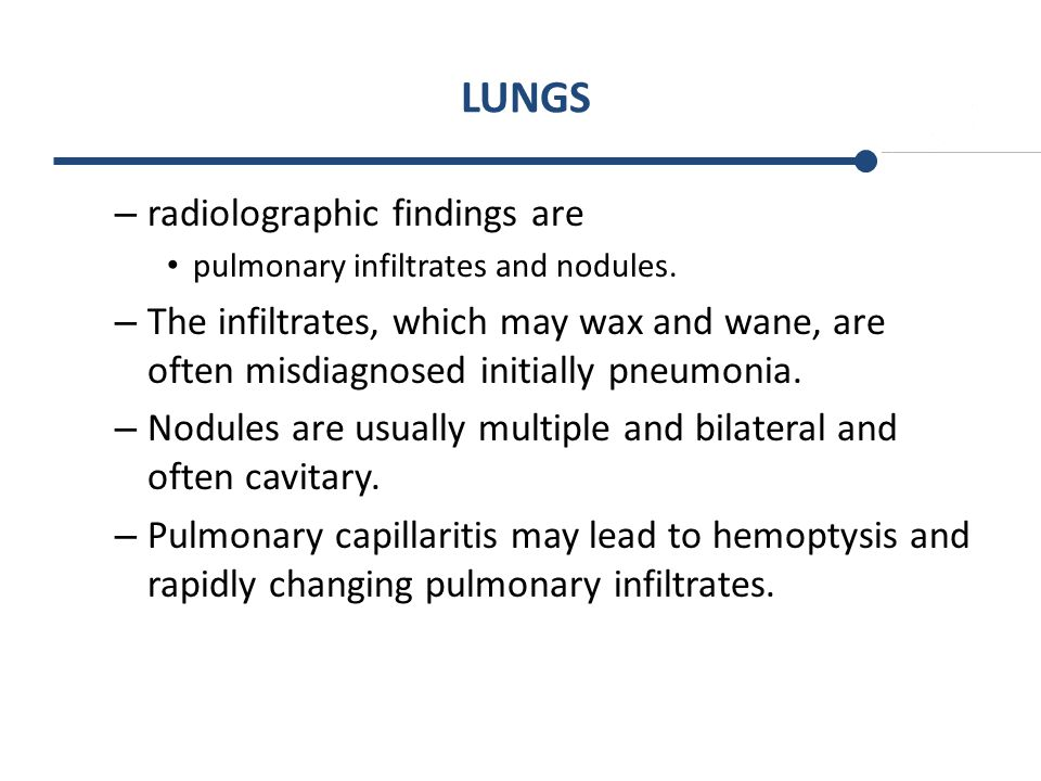 LUNGS radiolographic findings are