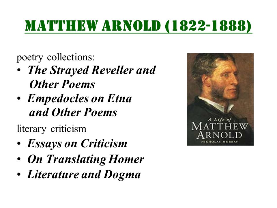 the victorian age in english literature ppt video online 8 matthew arnold