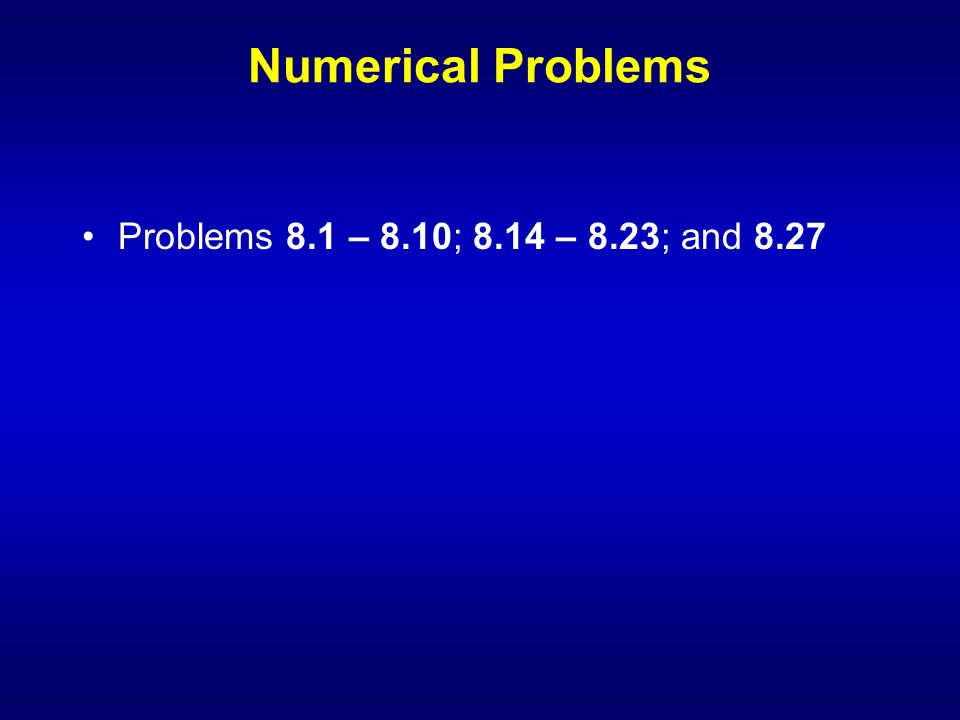 Numerical problems
