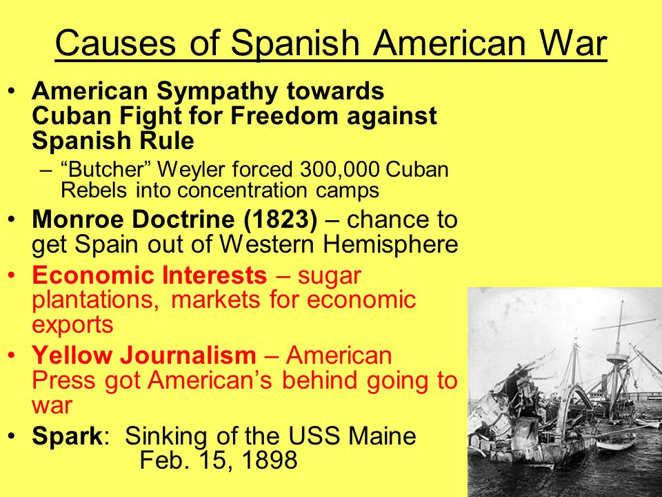 Spanish American War ppt video - 136.3KB