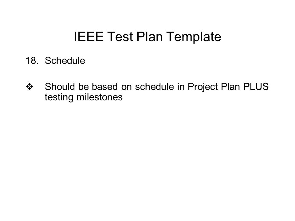 software testing schedule template - cis 74 computer software quality assurance ppt video