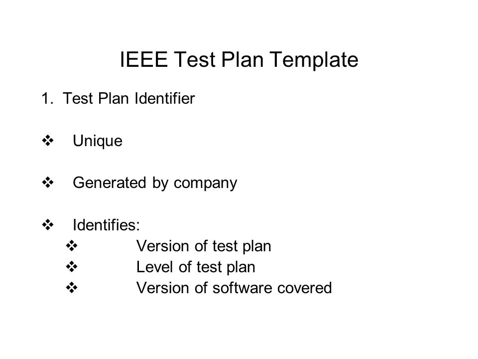 Cis 74 computer software quality assurance ppt video online download ieee test plan template pronofoot35fo Image collections