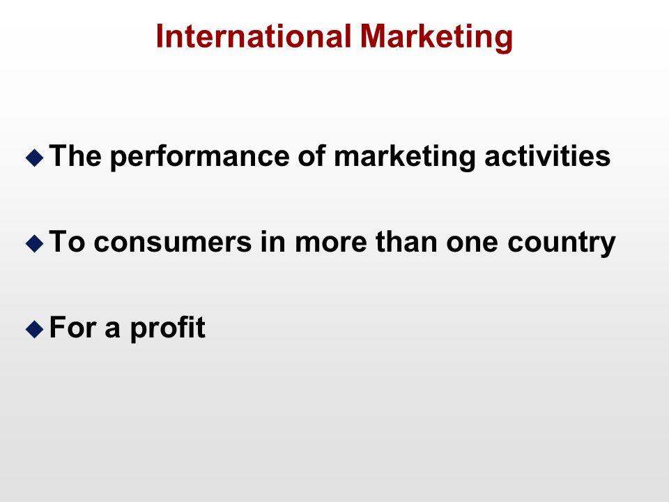 international marketing task International marketing strategy of coca cola company - the essence and   solving international marketing tasks on the basis of relevant external (market)  and.